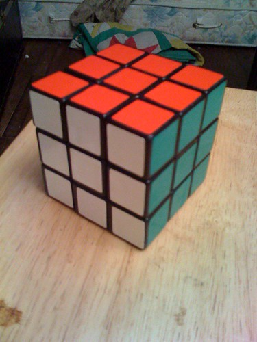 Solving a cube top-bottom-middle 7/7