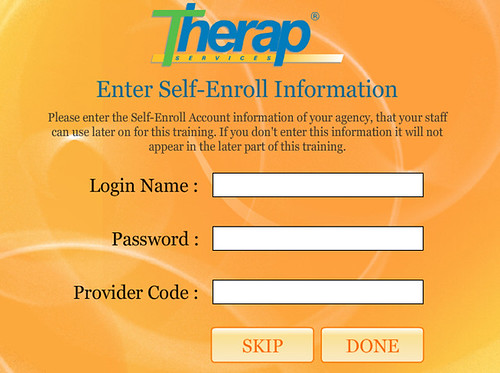You can use this form to enter in Self-Enroll information you decided to use for your agency. Do this prior to starting training and when T-Girl shows Self-Enrolling, she will display this information to your class