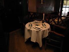 Empty table with candle (Carlitos) Tags: copenhagen denmark restaurant nyhavn canal europa europe restaurante scandinavia danmark dinamarca kbenhavn copenhague escandinavia caphorn hovedstaden