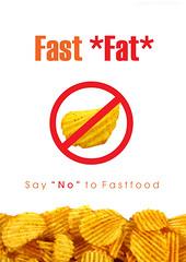Fast*fat* (~ Caracat ~) Tags: orange design fastfood chips advert