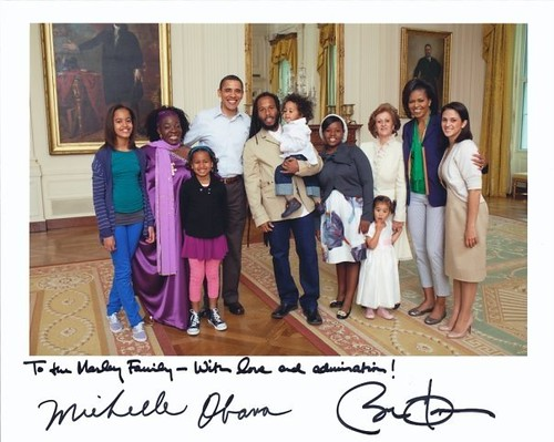 Marleys and the Obamas at the White House!