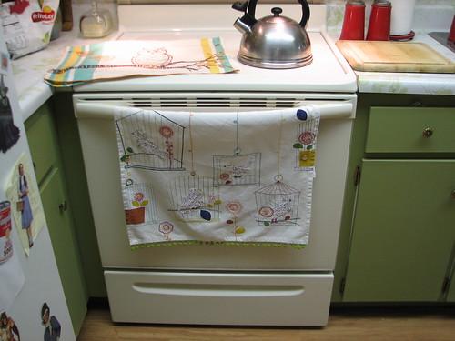 hanging around in the kitchen