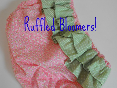 Ruffled Bloomers / Diaper Cover