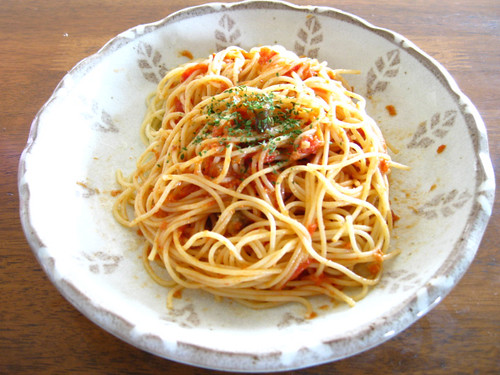 なすトマトのチーズパスタ(ポモドーロ)