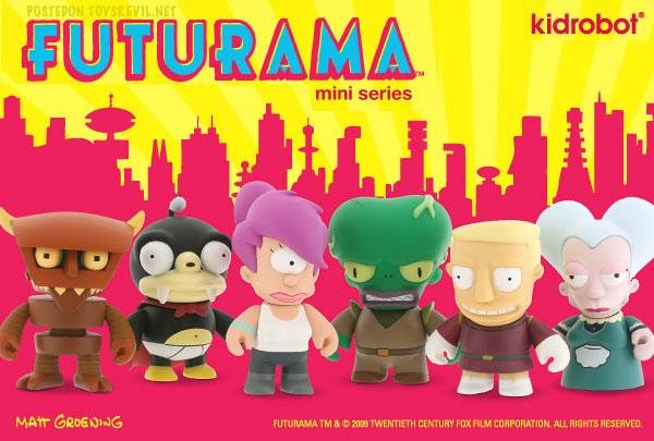 Futurama Mini Figures By Kidrobot August 13 Release