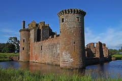 Caerlaverock Castle (Ian Lambert) Tags: uk castle english history water scotland countryside ruins war medieval civilwar maxwell moat borders scots dumfries caerlaverockcastle jamesvi edwardi