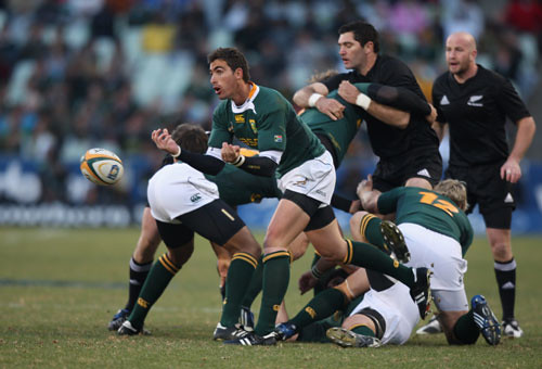 Ruan Pienaar, protagonista contro gli All Blacks