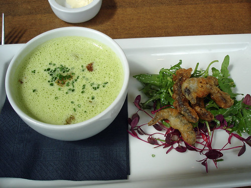 Whitebait and Pea Soup