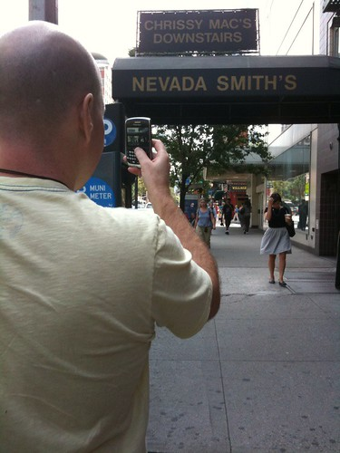 Snapping photos with my BlackBerry in NYC