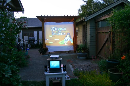 Movie in the garden