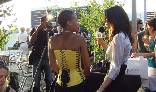 Anita being interviewed