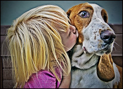 A girl and her dog (::big daddy k::) Tags: dog cute girl animal frankie bassethound colonelmustard project365 project3661 frankiekeptsayingiloveyoucolonel