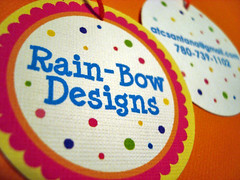 rain-bow designs - double-sided hang tags