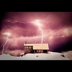 Let There Be Light! (Stephen.James) Tags: house snow black rain hail clouds amazing purple cottage creation lightning sleet