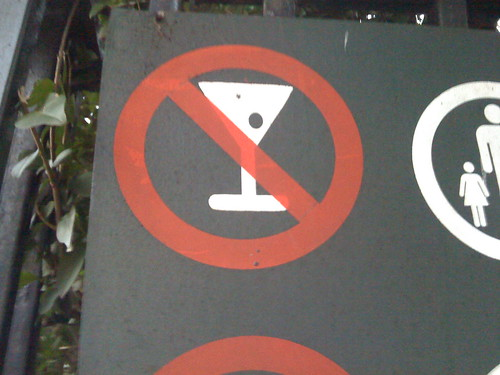 Martinis are not allowed at the Saint Vartan's playground, but they don't say anything about 40s