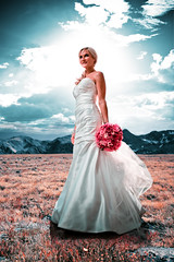 Mrs. Rocky Mountain Way (Chris Arace) Tags: life park wedding people sun mountains clouds person bride colorado gallery denver explore human co estespark boquet rockymountainnationalpark strobe cheesman curated pocketwizard chrisarace aracephotographic wwwthereasonus