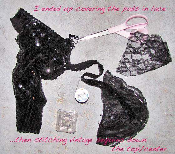 Fancy embellished shoulder pads diy love maegan