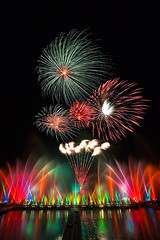 2009 Miaoli Waterdancing Festival Fireworks  (olvwu | ) Tags: light reflection water fountain festival night colorful fireworks vibrant taiwan reservoir celebration brilliant miaoli firecracker jungpangwu oliverwu oliverjpwu flickrexplore miaolicounty olvwu waterdancing waterdancingfestival homersiliad jungpang touwu travelsofhomerodyssey touwutownship 2009miaoliwaterdancingfestival miaoliwaterdancingfestival mindereservoir