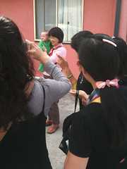 Nina mobbed by Chinese tourists