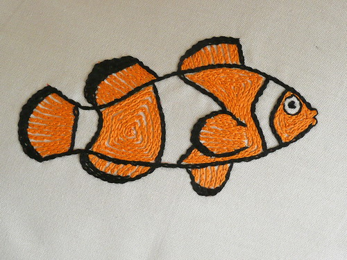 Clown Fish Embroidery