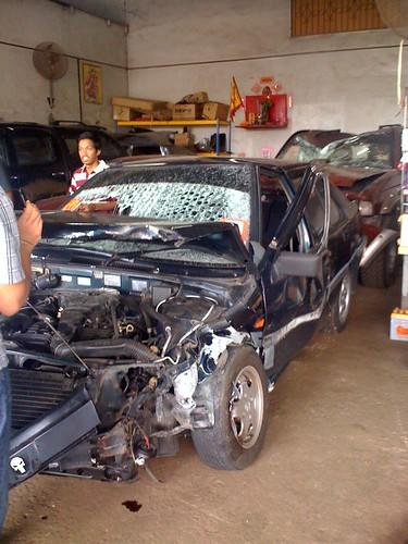 Adik Mel & kawan dia accident dgn India mabuk
