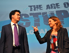Ed Miliband and Franny Armstrong