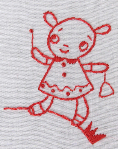 Loobylu embroidery closeup