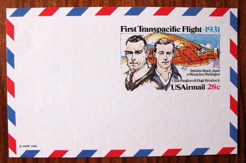 1980 airmail postcard