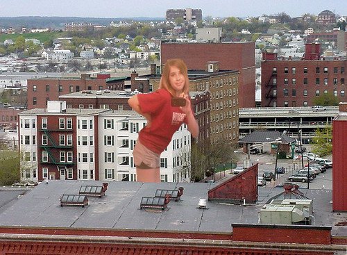 Giantess in the city by supadupafunny