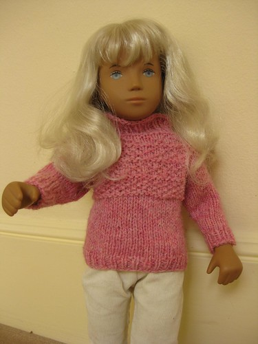 Pink shetland pullover for Sasha