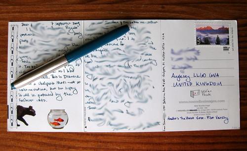 Novelles images Foldover postcard: inside