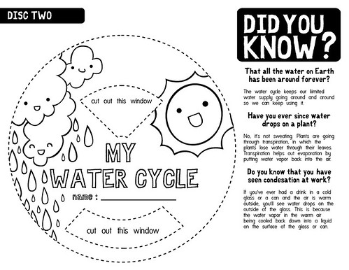 Water Cycle Worksheet B/W 2 by