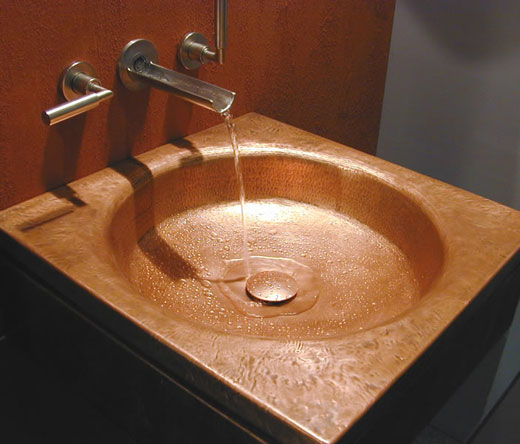 Luxurious Copper Bathtub and Basin from Ago