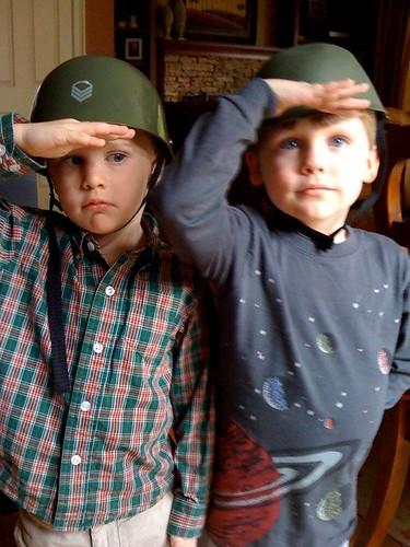 Silver War Soldiers