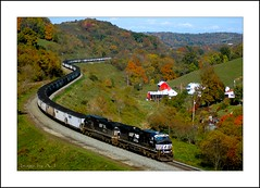 Back in Time (Images by A.J.) Tags: railroad autumn fall train energy mine branch time pennsylvania norfolk rail railway trains southern pa transportation bailey coal manor ge bahn treno freight chemin trein ferrocarril ferro  consol