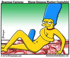 10 12 09 Bearman Cartoon Marge Simpson Playboy