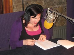 The vivacious Grainne recording her lines... the sultry, mysterious M'Pursong perhaps??
