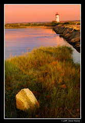 The Light at Edgartown (James Neeley) Tags: sunset lighthouse landscape massachusetts marthasvineyard edgartown jamesneeley