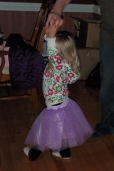 dancing with Daddy in her new tutu