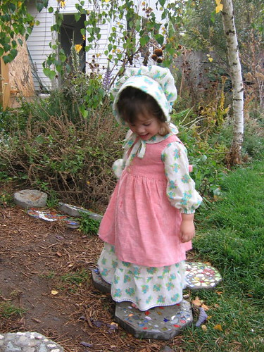 Baby Carrie in her Little House Dress #2