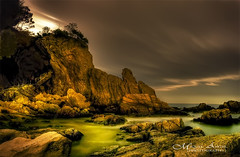 La Cala encantada. (mireba72) Tags: blue light sea sky costa color verde beach nature azul night landscape noche coast mar fantastic spain nikon bravo cost playa girona catalunya tones sant brava hdr breathtaking cala rocas speechless blanes blackrose magica francesc d60 topseven bratanesque goldenplanet magicunicornverybest magicunicorn magicunicornmasterpiece platiniumplanet wonderworldgallery