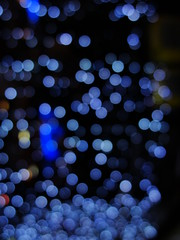 Surround by glow-worms (Florencia Crcamo) Tags: blue light black luz azul bokeh circles negro circulos glowworms luciernagas sonyh20
