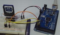 Circuito elétrico - Arduino com cartão de memória SD-MMC