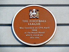Photo of The Football League red plaque