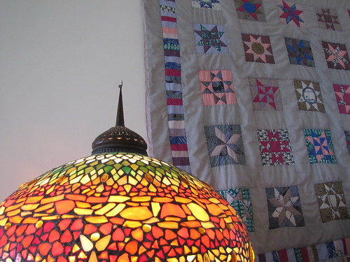 lamp and quilt