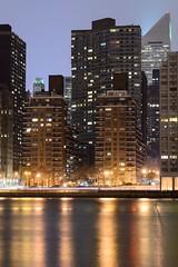 03-08-14 Manhattan from Roosevelt Island 1 (ThinkDima) Tags: city nyc newyorkcity longexposure newyork skyline night reflections nikon cityscape manhattan 85mm nightshots rooseveltisland newyorkatnight citicorpbuilding nikkor85mm afsnikkor85mmf14g d800e nikond800e