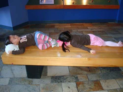 The girls were exhausted by the time we left the aquarium