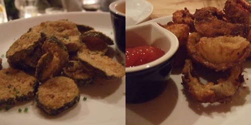 onion rings and fried pickles
