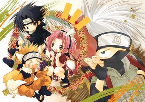 naruto sasuke sakura and kakashi. Chibi Naruto, Sasuke, Sakura amp;