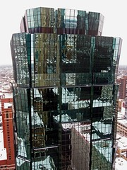 Skyscraper Glass Tower Glory, Minneapolis , Minnesota (moonjazz) Tags: winter sky urban building tower art rooftop glass minnesota skyline modern skyscraper design high midwest glow shine view minneapolis award bank landmark best reflect panels archetecture rectangle multistory metropolitian